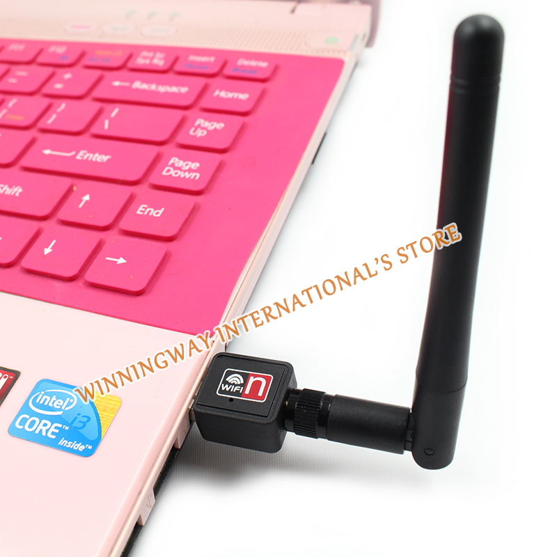 High quality ! Mini usb wifi wireless adapter network for desktop 150Mbps 802.11n with Antenna wireless wifi USB adapter(China (Mainland))