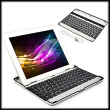 by DHL or EMS 10 pcs Aluminum Wireless Mini Bluetooth Keyboard Case Stand Cover For iPad Mini 1/2 Retina(China (Mainland))