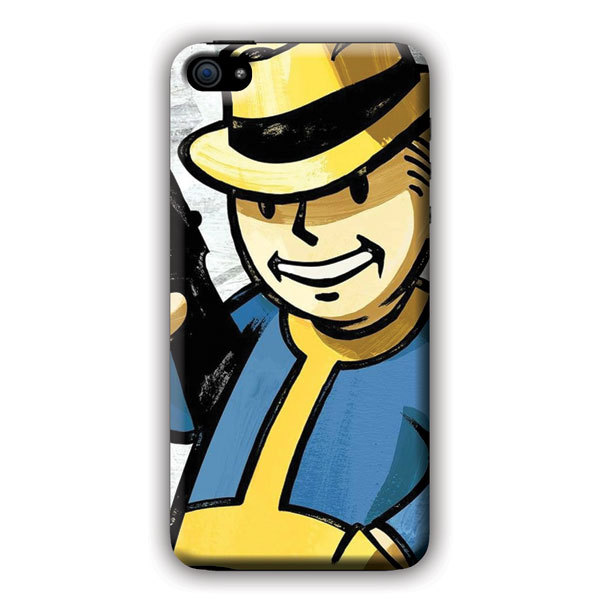 Cheap Cell Phone Cases Fall Out New Vegas Character with Gun For iPhone 5c Case Waterproof Cell Phone Case Verizon(China (Mainland))