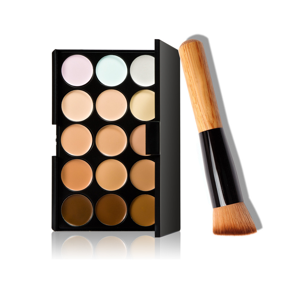 Hot 15 Makeup Concealer To Hide Blemishes Primer Natural Facial Contour Cosmetic Concealer Palette For mac Foundation VH006(China (Mainland))