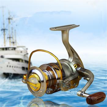 Exclusive Quality Metal Spinning Fishing Reel 10 Bearings EF1000 2000 3000 4000 5000 6000 7000 Line Winder Speed Ratio 5.1:1
