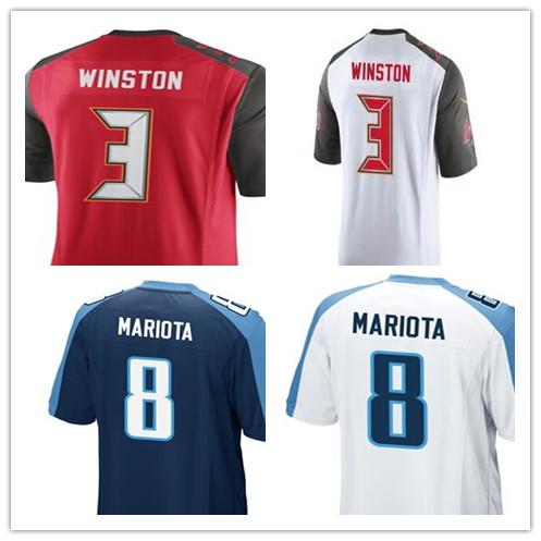 Cheap Men Women Youth American Football Jersey Kids Jameis Winston Jerseys 3 Marcus Mariota Jersey 8 Sport Shirt Best Quality(China (Mainland))