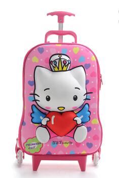 new 3D EVA kitty trolley bag three-dimensional cartoon luggage school - qili lu's store