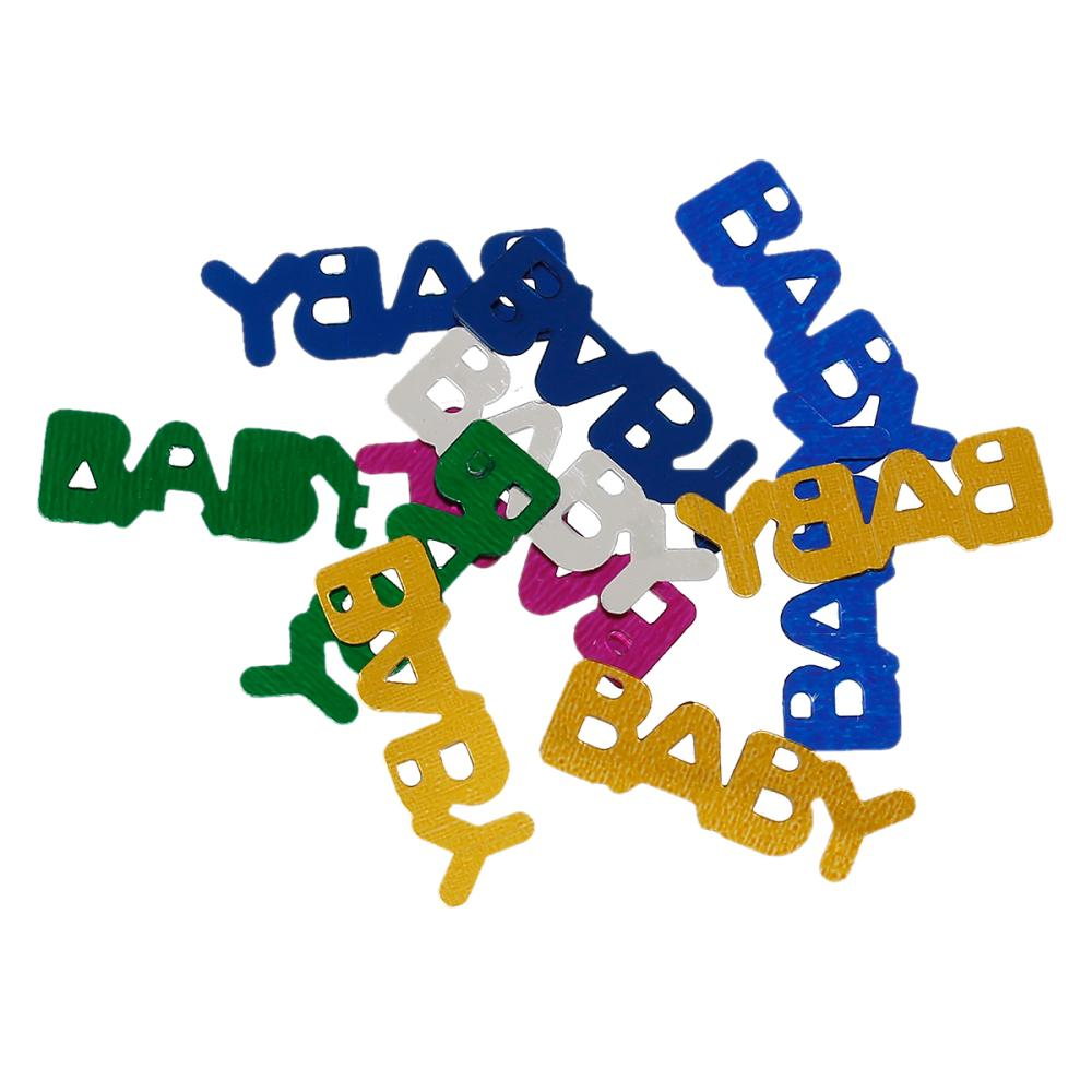 """PVC Confetti Party Decorations Baby Shower Alphabet """"Baby"""" At Random 22.0mm x 7.0mm , 100 Grams 2015 new(China (Mainland))"""