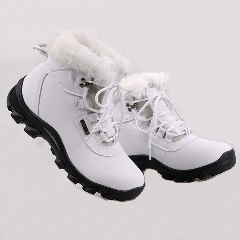 2015 brand Genuine Leather waterproof women snow boots comfortable Warm winter quality ankle boot women tactical snow boots(China (Mainland))