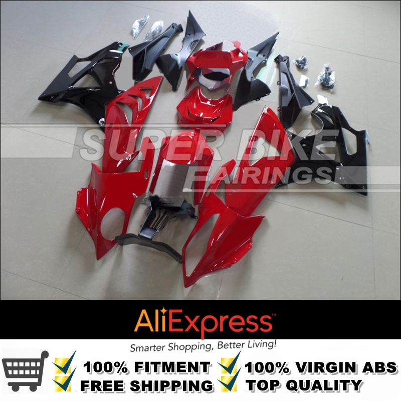 Excellent Painting Job Gloss Red And Black S1000RR OEM Fitting ABS Plastic Motorcycle Fairing Kit Bodyset For BMW S1000(China (Mainland))