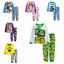 BABY & kids Long sleeve Cartoon Teenage Mutant Ninja Turtles Boys Girl suit sleepwear baby pyjamas Sleeve Clothing set - fashion&baby's store