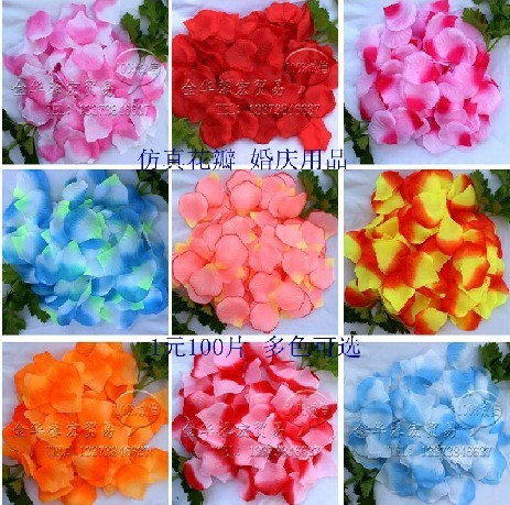 100Packs/Lot,100Pcs/Pack,Free Shipping ,High Quality,The Marital Bed And Flower Simulation Rose Petals