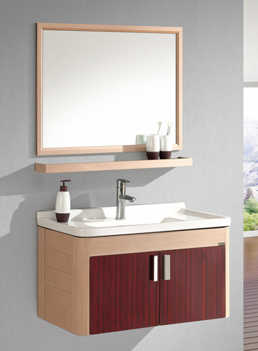 Free shipping stainless steel bathroom cabinet vanity cabinet in bathroom vanities from home Stainless steel bathroom vanities