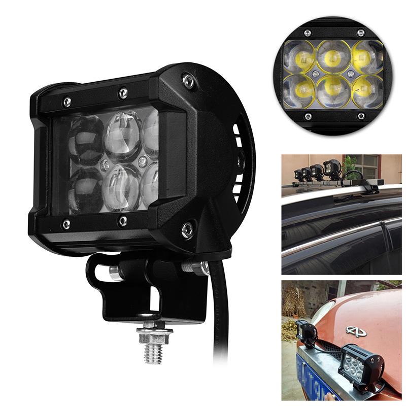 4 Inch 30W Car LED Work Light Offroad Driving Fog Lamp Car Motorcycle Bicycle SUV ATV 4WD 4X4 UTE Auto UTV Spot Flood Headlight(China (Mainland))