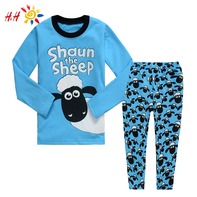 Гаджет  H&H 2015 New Pajamas Kids Girls Baby Suit Sleepwear Shaun the Sheep Pattern Boys Pajamas Children Clothes Winter Clothing Sets None Детские товары