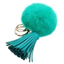 8 Cm Beaver Rabbit Fur Ball Bags Pendant Fashion Solid Candy Color Cute Bag Accessories Girl Handbag Decoration Tassel Accessory(China (Mainland))