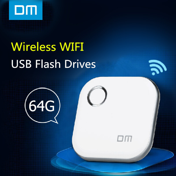 DM WFD015 Wireless USB Flash Drives 64GB WIFI For iPhone / Android / PC Smart Pen Drive Memory Usb Stick Multiplayer With Share(China (Mainland))