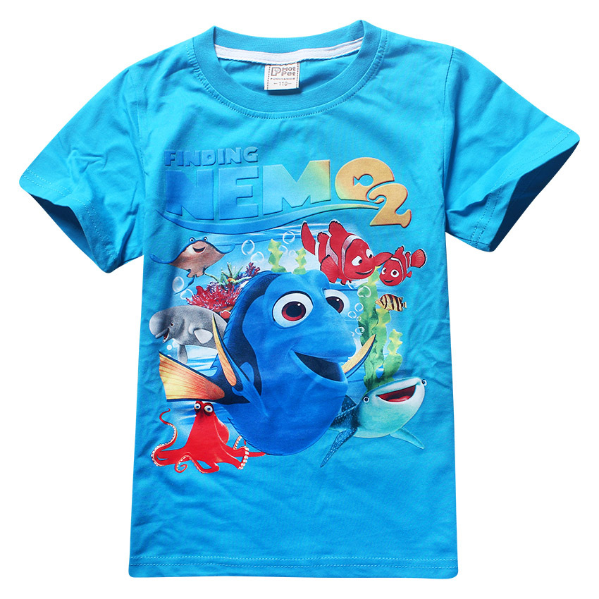 Trolls T-shirt  Maui Clothes Girl 3-9 Years Dory Cartoon Short Sleeve Cotton T Shirt Kids Boys Summer Clothes 3 Colors Choice