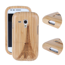 New Arrival Bamboo Carving Pattern Wood Material Detachable Case For Samsung Galaxy S3 Mini i8190 Hard Back Cover(China (Mainland))