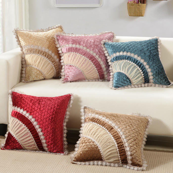 45X45CM Luxury Square Vintage European Cushion Home Throw Pillowcases Cotton Blend Pillows Decorative Throw Pillowcase Mar02