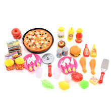 New 51pcs or 58pcs / Set Plastic Fruit Vegetable Kitchen Cutting Toys Early Development and Education Toy for Baby Kids Children(China (Mainland))