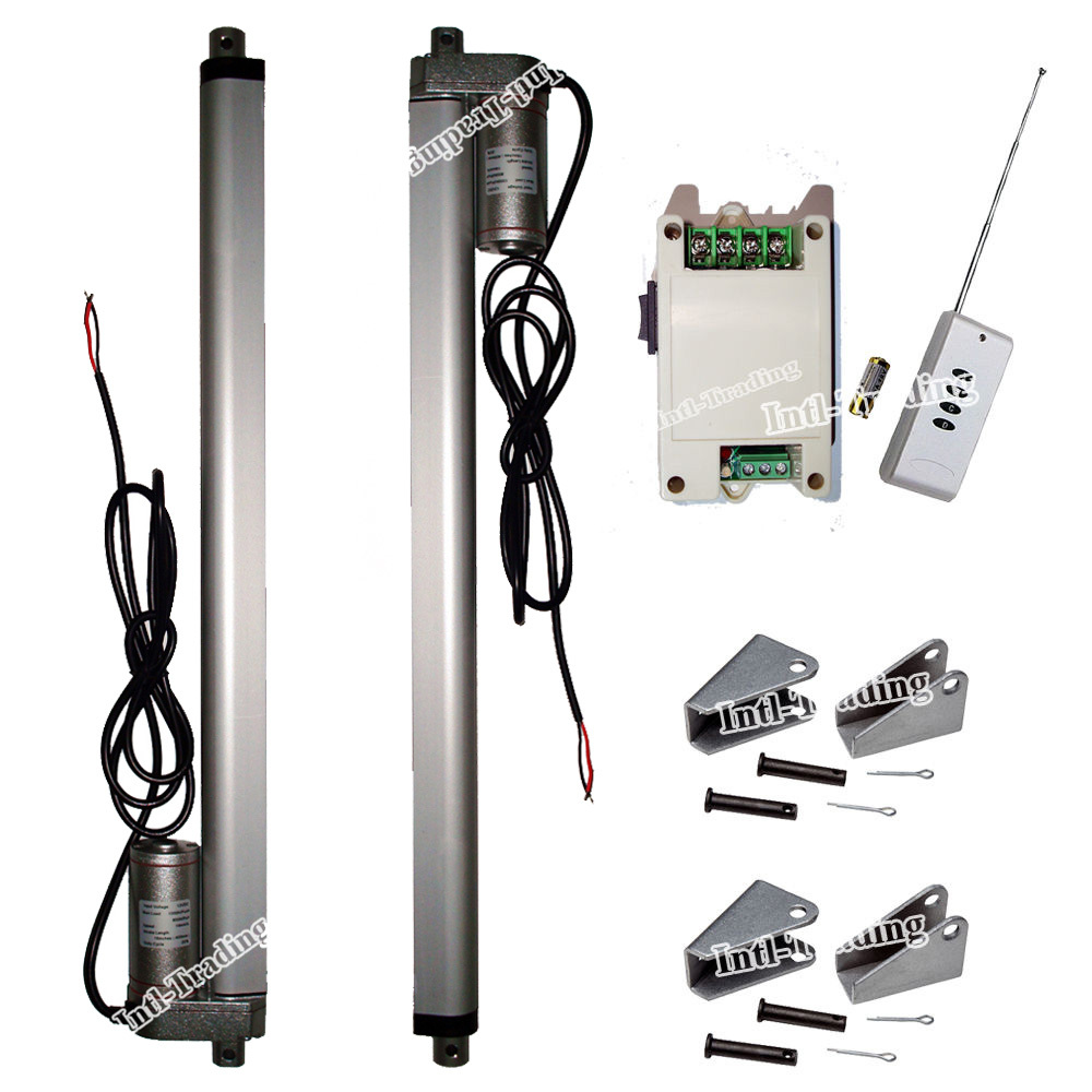"""Set of 2 12V 330lbs 16"""" Stroke Linear Actuators &Wireless Control Kits &Brackets-Multi-function for Electric Medical Industrial(China (Mainland))"""