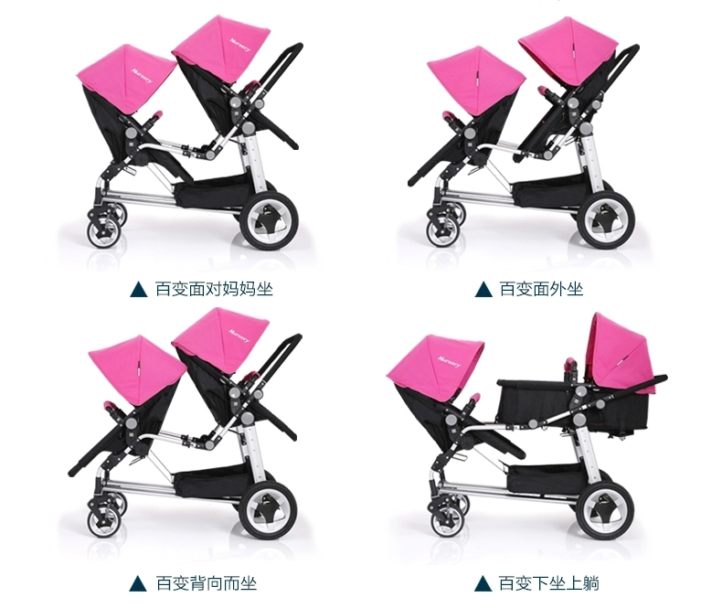 2015 Cheap Baby Stroller For Twin In Red,Light Green,Pink Color Kids Pushchair For Twin Suitable For 0-36 Months Children<br><br>Aliexpress