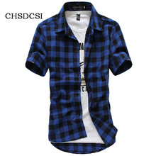 Buy Summer Fashion Multicolor Plaid Shirts Men Single Breasted Chemise Men Casual Fitness Shirts Short Sleeve Grid Male Camisas B004 for $8.21 in AliExpress store