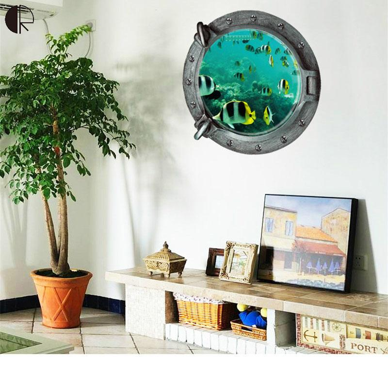 Hot Sale DIY 3D Home Removable Wall Decor Wall Sticker Creative Windows Vinyls Wall Decal For Kitchen Bathroom Wall Art HH1419(China (Mainland))