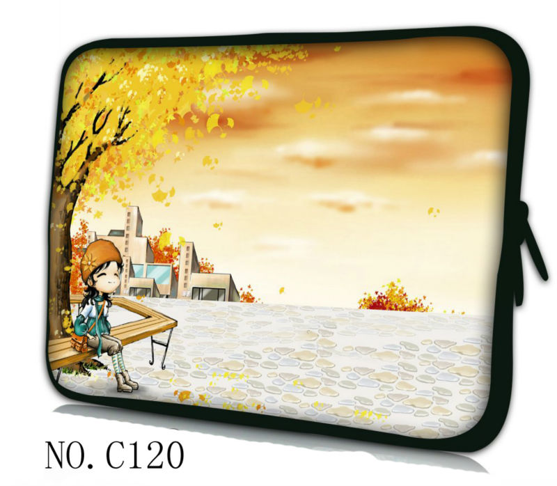 "Girl in autumn 12"" Neoprene Laptop Sleeve Bag Soft Case Cover For Apple iBOOK,Macbook Air(China (Mainland))"