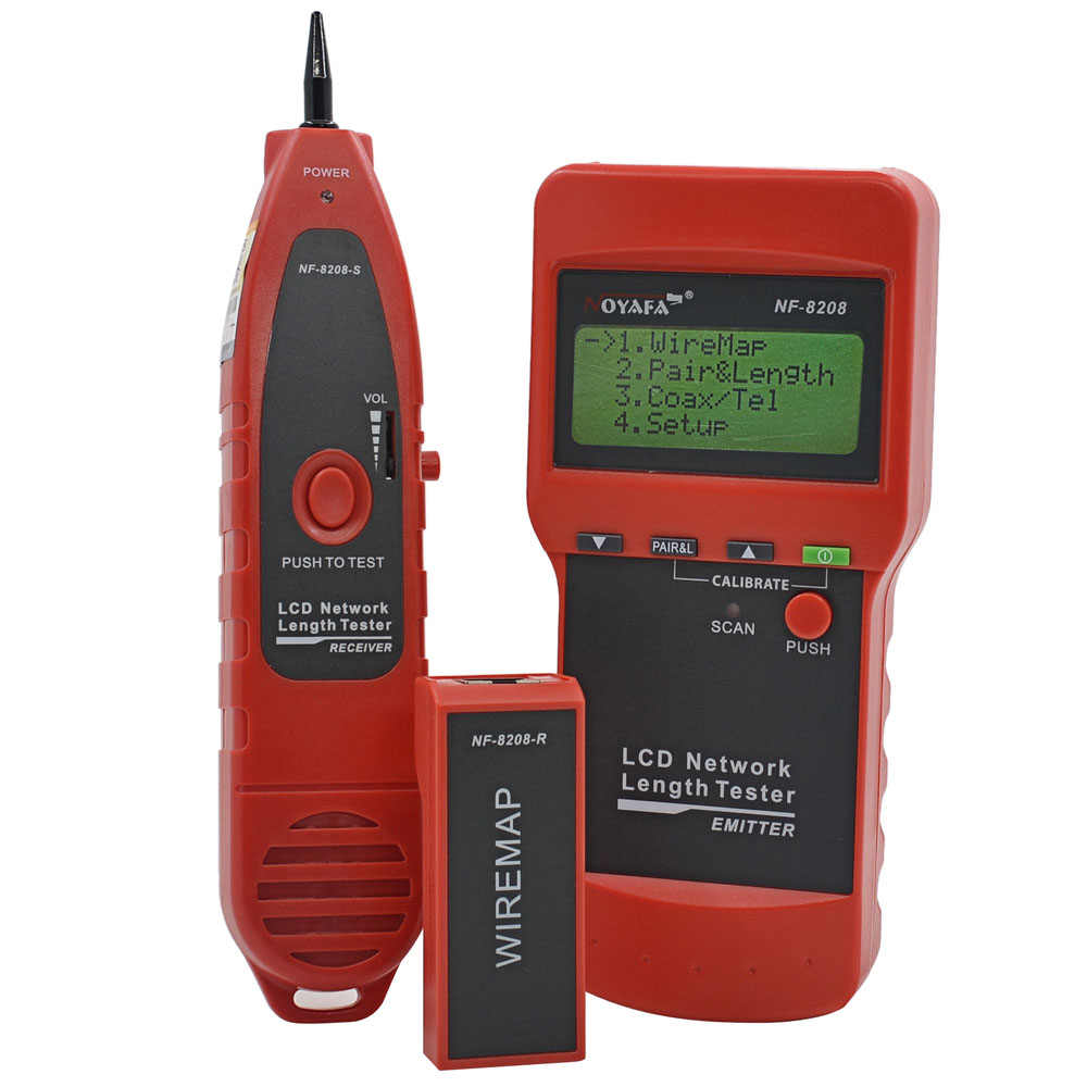 NOYAFA NF-8208 Ethernet LAN Network Cable Tester Detector Inspection Cat5e Cat6e RJ45 Wire Tracker Diagnose Tone Tracer(China (Mainland))