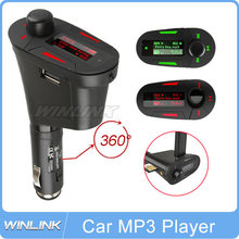 Car Kit MP3 Player Wireless FM Transmitter Modulator LCD USB SD MMC Car MP3 FM Pen Drive Red Light LCD(China (Mainland))