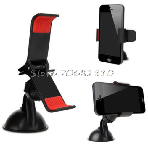 360 Degree Rotating Car Windshield Holder Mount Stand For Mobile Cell Phone GPS Hot -R179 Drop Shipping(China (Mainland))