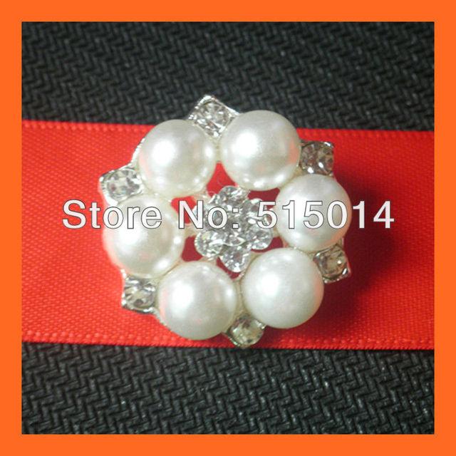 Free Shipping ! Wedding Invitation Embellishment ,Crystal and pearl Embellishment For Invitations ,Flowers