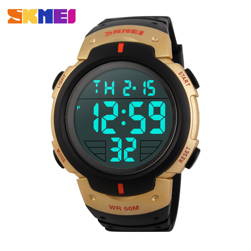 2015 Men's LED Digital Watch Men Sports Watches SKMEI Relogio Masculino Reloj Relojes Fashion Waterproof Military Wristwatches(China (Mainland))