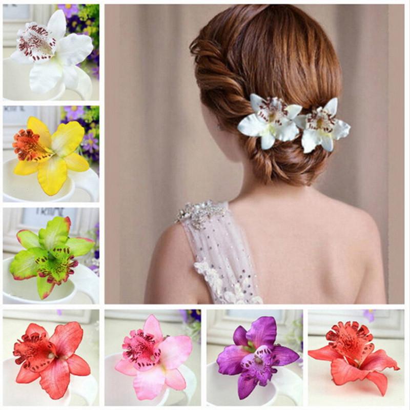 Цветок украшение на волосы своими руками