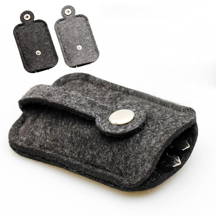 Гаджет  2015 New Men women Woolen Felt Car Key Holder Case Bag Keychain Holder Bag Purse Casecompact key holder None Камера и Сумки