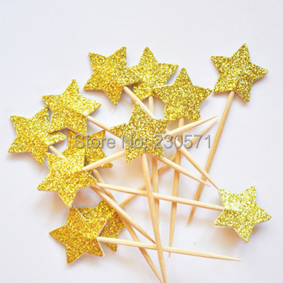 Com buy gold star happy birthday cake topper set for kids birthday