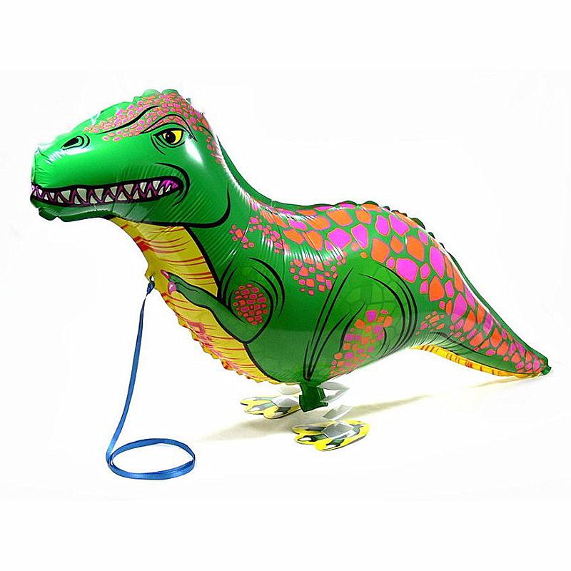 Baby toy Dinosaurs Walking Pet Balloon, Cartoon Dinosaurs Characters Air Balloons, Decoracion Fiestas Cumpleanos Dinosaurs(China (Mainland))