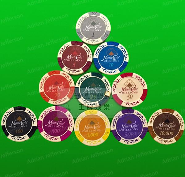 Фишки для покера PokeChip 5pcs/11 Fichas E30 фишки для покера дешево воронеж