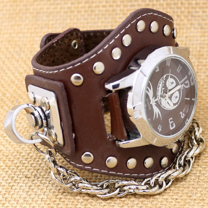 leather band watches womens images