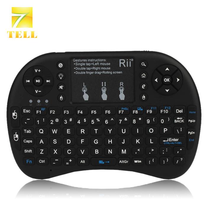 Rii mini i8+ 2.4G Wireless Mini Keyboard Air Mouse Mini QWERTY 92-key Keyboard Touchpad PC Gaming Control Keys(China (Mainland))