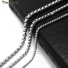 Buy Men's Chain Necklace 2.5/3.5/4.5 MM Wide Necklace Men Titanium Steel Link Chain Necklaces Men for $3.20 in AliExpress store