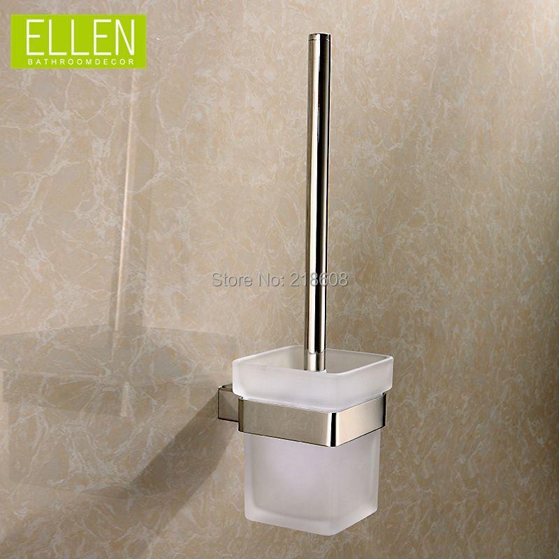 Bathroom square toilet brush holder set stainless steel bath hardware set(China (Mainland))
