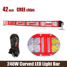 42Inch LED Light Bar Cree Chips 240W 24000LM 10V-30V Red Bezel For Off-Road vehicles-ATVs SUV truck Fork lift trains(China (Mainland))
