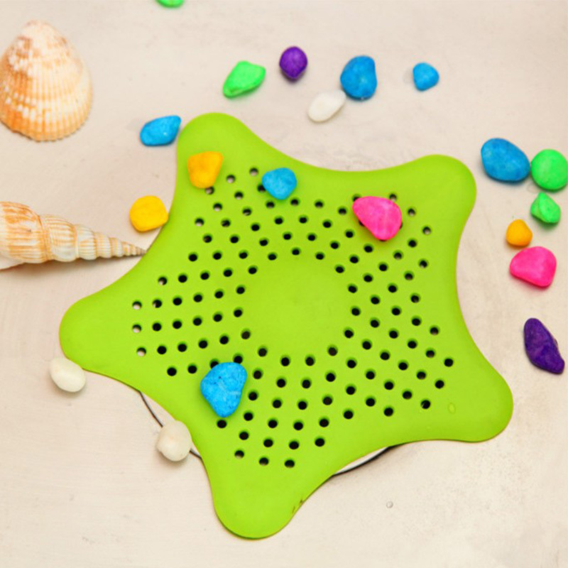 Hot Selling 4 Colors New Bathroom Shower Drain Cover Starfish Hair Filter Sink Strainer Free Shipping #70054(China (Mainland))