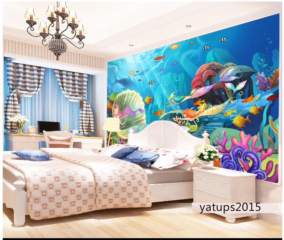 Mural de pared de la sirena de alta calidad compra lotes for Murales pared baratos