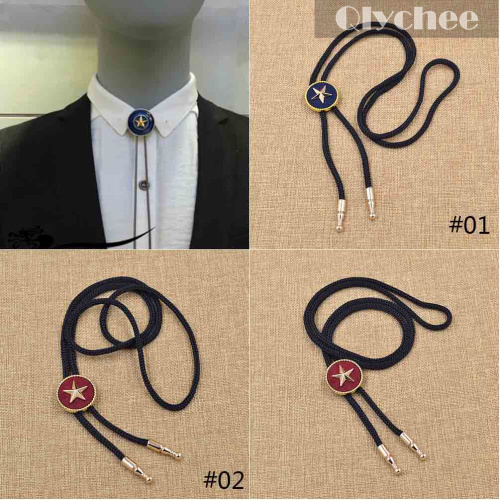 Retro Vintage Western Mens Male Cowboy Star Bolo Tie Rodeo Dance Aztec Leather Party Neckwear
