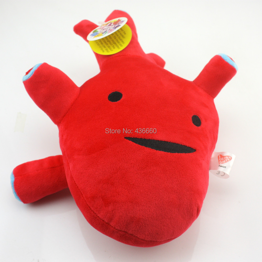 "I Heart Guts 11"" Red Heart Plush Humongous Heart Cardiologist LOVE stuffed toy(China (Mainland))"