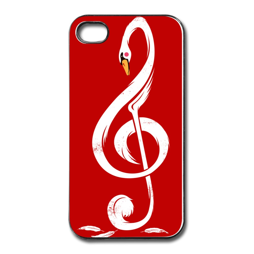 Case For Iphone 4 4s Custom Cool Swan's Melody Team Texts 4 Cases Cheap(China (Mainland))