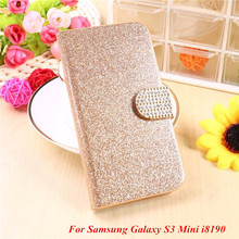 Buy Fashion Bling Glitter Luxury Flip Wallet Case Samsung Galaxy S3 Mini S3Mini i8190 8190 Phone Bag Case Card Slot for $2.76 in AliExpress store