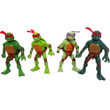 4pcs/set ABS material Teenage Mutant Ninja Turtles Action Figures Toys Set Anime TMNT Cartoon Toy Michelangelo Raphael