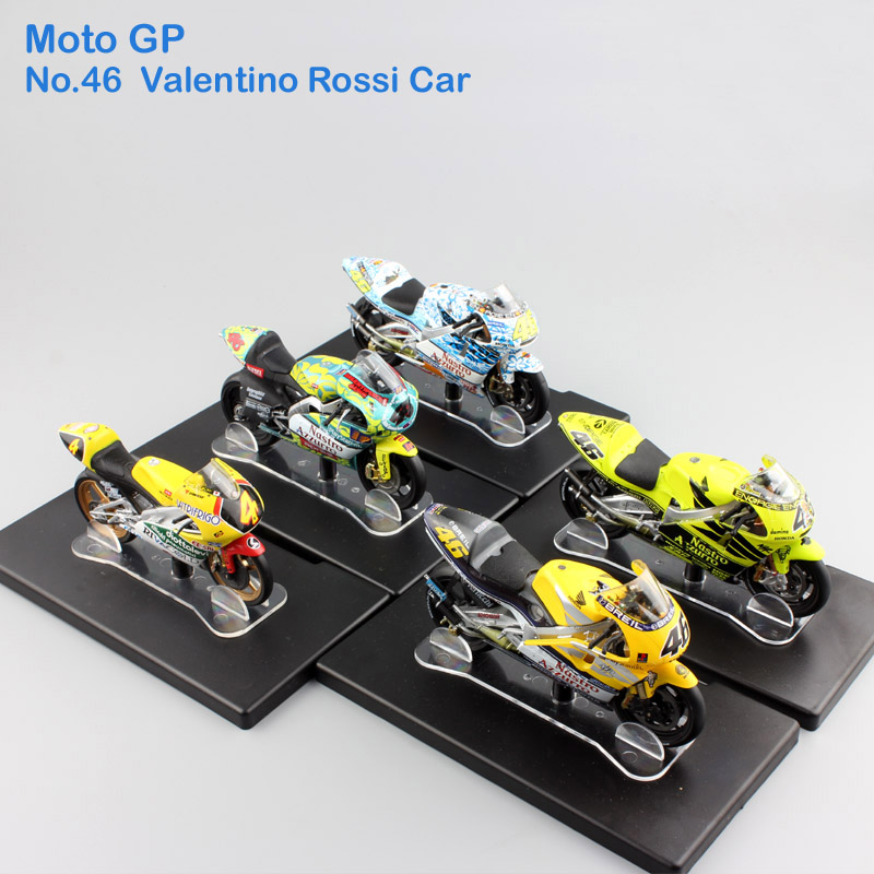 1:18 scale Leo No.46 rossi Moto GP Honda Aprilia Yamaha Championship Diecast model motorcycle kids toys race cars for collection(China (Mainland))