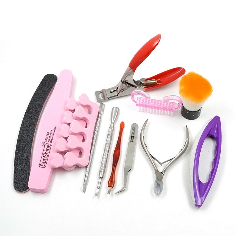 New 2015 Mix Nail Art Tool Set Series Clipper Cuticle Pusher Nails Sponge File Brushes Manicure Set(China (Mainland))